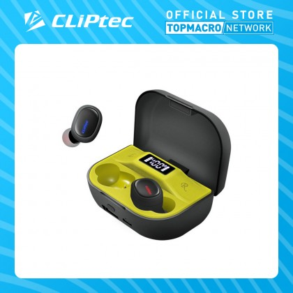 CLIPTEC BLUETOOTH TRUE WIRELESS STEREO EARPHONE WITH POWER BANK (DOT-X)