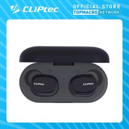 CLIPTEC BLUETOOTH TRUE WIRELESS STEREO EARPHONE (DOT) - (BLACK/GREY)