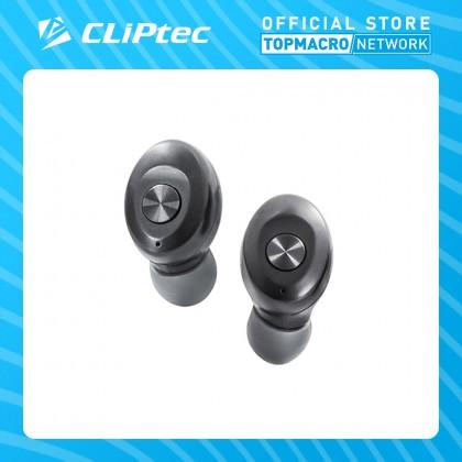 CLIPTEC BLUETOOTH TRUE WIRELESS STEREO EARPHONE (MINI) - GREY/RED