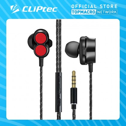 CLIPTEC DUAL DYNAMIC DRIVERS IN-EAR EARPHONE (2SONIC)