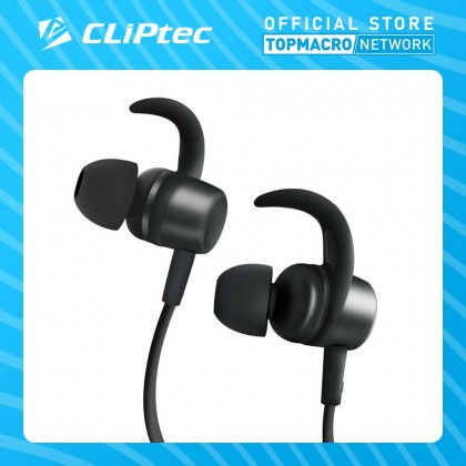 CLIPTEC BLUETOOTH FLEXIBLE NECKBAND MAGNETIC STEREO EARPHONES (AIR-NECKACTIVE) - GREY
