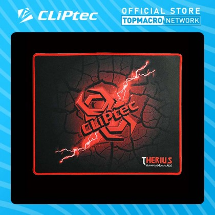 CLIPTEC GAMING MOUSE MAT (THERIUS) - BLACK