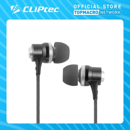 CLIPTEC IN-EAR EARPHONE WITH MICROPHONE (RHYTHM) - BLACK/WHITE/RED