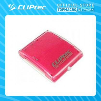 CLIPTEC ARCH-4 USB2.0 ALL IN 1 CARD READER (BROWN/PINK.BLUE/WHT)