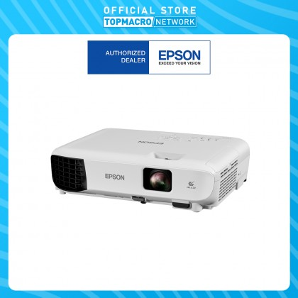 EPSON EB-E10 PROJECTOR XGA,3600 LUMENS , 6000 LAMP HOURS, 15,000:1 CONTRAST RATIO, 2.4KG,2W MONO SPEAKER, COMPUTER PORT , HDMI PORT , USB B PORT , HOME SCREEN ,